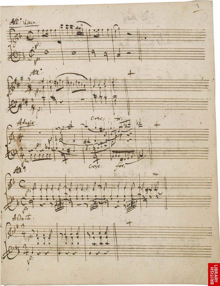 В свободном доступе 120 часов музыки Моцарта и его личный дневник